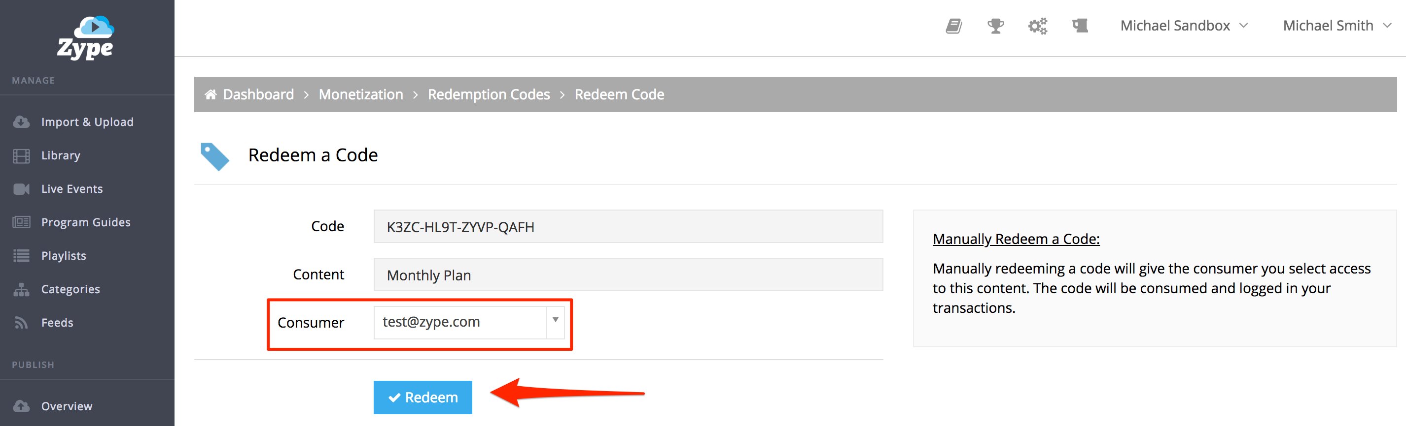 Redeeming Codes in the Dashboard – Help Center